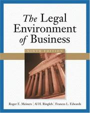 The legal environment of business by Roger E. Meiners