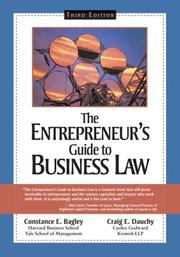 Cover of: The entrepreneur's guide to business law by