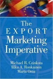 Cover of: The export marketing imperative