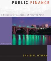 Public Finance by David N. Hyman