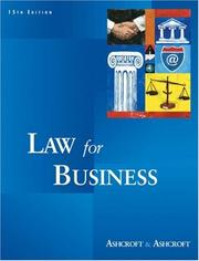 Cover of: Law for business | Janet E. Ashcroft