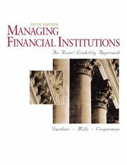 Managing financial institutions by Mona J. Gardner