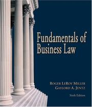 Cover of: Fundamentals of Business Law (with Online Research Guide)