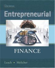 Entrepreneurial finance by J. Chris Leach