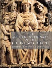 Cover of: The Oxford dictionary of the Christian Church | edited by F.L. Cross.