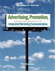 Cover of: Advertising, Promotion, and Other Aspects of Integrated Marketing Communications