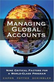 Cover of: Managing global accounts