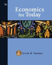 Cover of: Economics for Today | Irvin B. Tucker