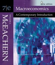Cover of: Macroeconomics (with Aplia ITS Card) | William A. McEachern