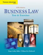 Cover of: Business Law Text and Exercises