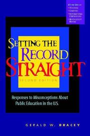Cover of: Setting the record straight