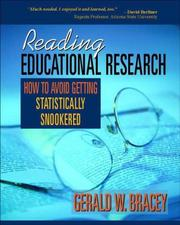 Cover of: Reading educational research: how to avoid getting statistically snookered