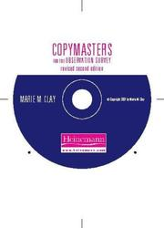Cover of: Copymasters for An Observation Survey, Revised Second Edition