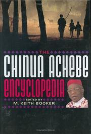 Cover of: The Chinua Achebe encyclopedia |