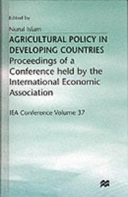 Cover of: Agricultural Policy in Developing Countries | Nurul Islam