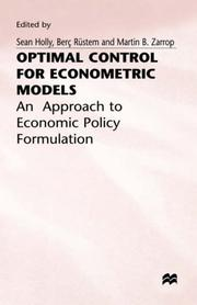 Cover of: Optimal Controls, Econometer Models