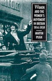Cover of: Women and the women's movement in Britain, 1914-1959