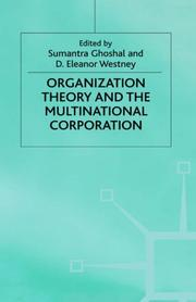 Cover of: Organization theory and the multinational corporation