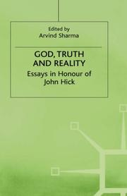 Cover of: God, Truth, and Reality: Essays in Honour of John Hick