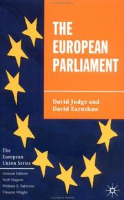 The European Parliament (European Union) by David Judge, David Earnshaw