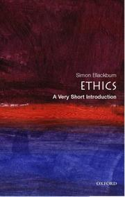 Cover of: Ethics: a very short introduction