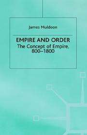 Cover of: Empire and order