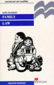 Cover of: Family law | Kate Standley