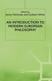 Cover of: An Introduction to modern European philosophy | Jenny Teichman