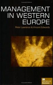 Cover of: Management in Western Europe
