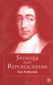 Cover of: Spinoza and Dutch Republicanism