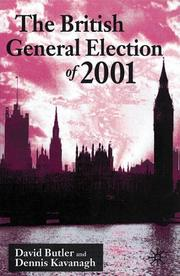 Cover of: The British General Election of 2001 | David Butler