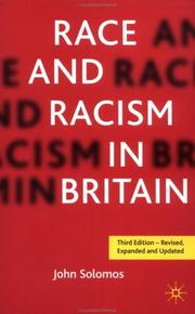 Cover of: Race and racism in Britain