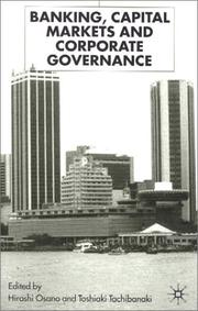Cover of: Banking, capital markets, and corporate governance |