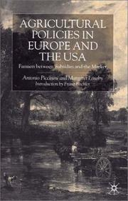 Cover of: Agricultural policies in Europe and the USA |