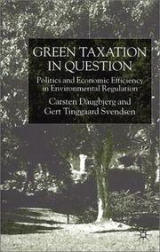 Cover of: Green taxation in question |