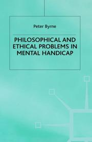Cover of: Philosophical and Ethical Problems in Mental Handicap