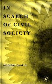 Cover of: In Search of Civil Society | Deakin, Nicholas.