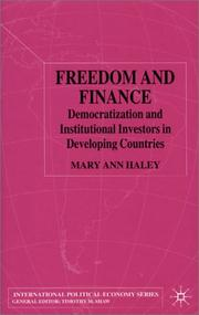 Cover of: Freedom and Finance | Mary Ann Haley