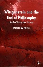 Cover of: Wittgenstein and the End of Philosophy