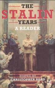 Cover of: The Stalin Years