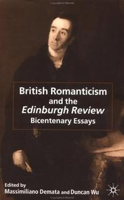 Cover of: British Romanticism and the Edinburgh Review |
