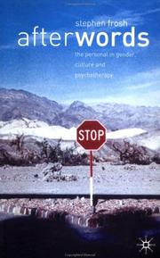 Cover of: After Words: The Personal in Gender, Cultural and Psychotherapy