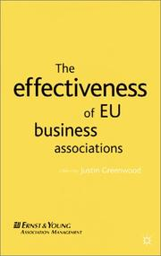 Cover of: The Effectiveness of EU Business Associations