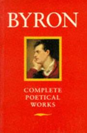 Cover of: Byron: poetical works | Lord Byron