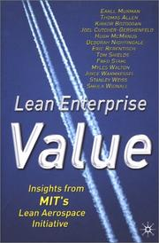 Cover of: Lean Enterprise Value | Earll Murman