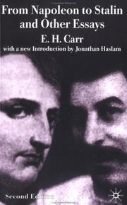 Cover of: From Napoleon to Stalin and other essays