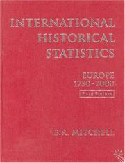Cover of: International Historical Statistics