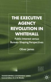 Cover of: The Executive Agency Revolution in Whitehall