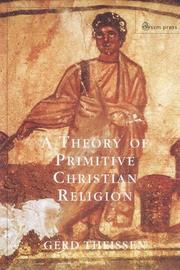 Cover of: A Theory of Primitive Christian Religion