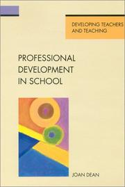 Cover of: Professional development in school